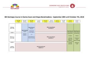 8th Karmapa Course program