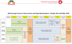8th Karmapa 2019 program
